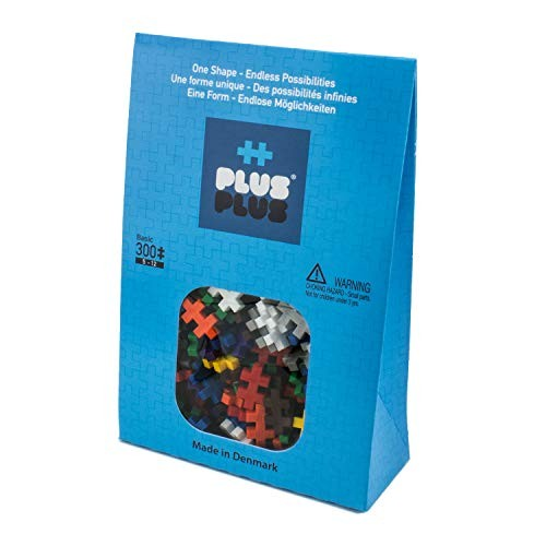PLUS Basic Mix – 300 Piece Construction Building Stem Steam Toy Mini Puzzle Blocks for Kids