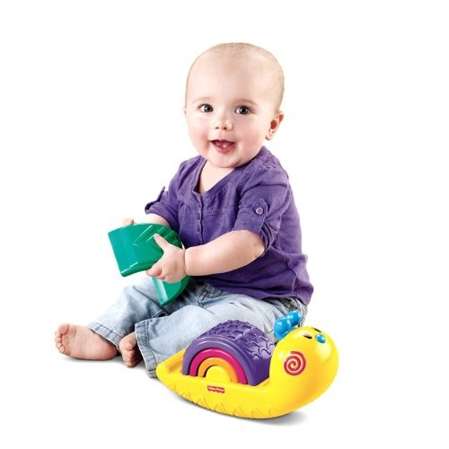 Fisher-Price Growing Baby Rainbow Snail Stacker