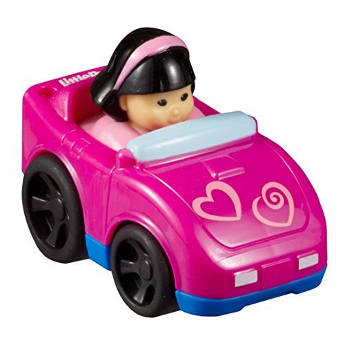 Fisher-Price Little People Wheelies Pink Hearts Sports Car