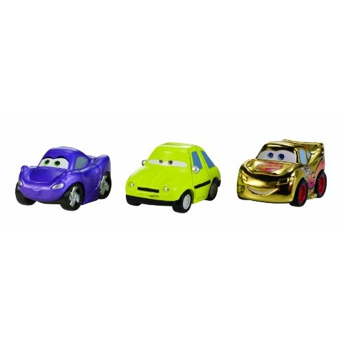 Cars Micro Drifters Gold Lighting McQueen Holley and Acer Vehicle 3-Pack