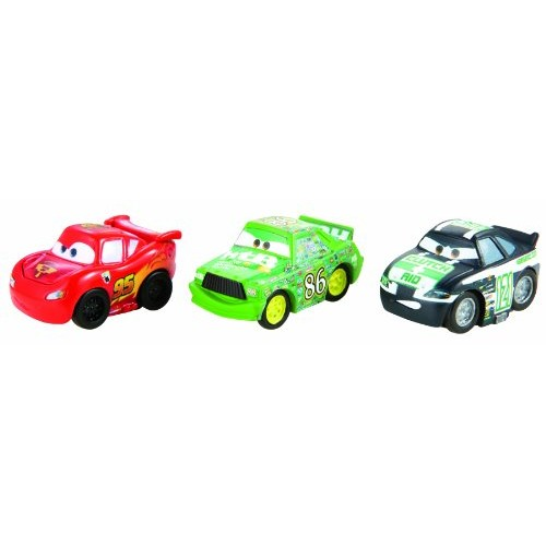 Cars Micro Drifters Chick Hicks Clutch Aid and Classic Lightning McQueen Vehicle 3-Pack