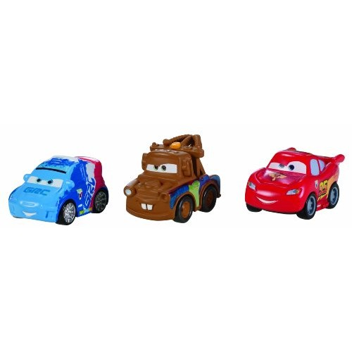 Cars Micro Drifters Lightning McQueen Raoul Caroule and Mater Vehicle 3-Pack