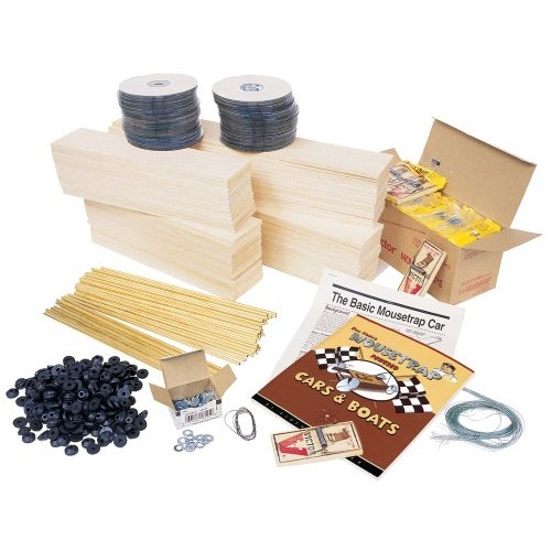 Pitsco Balsa Wood Mousetrap Vehicle Kit For 30 Students