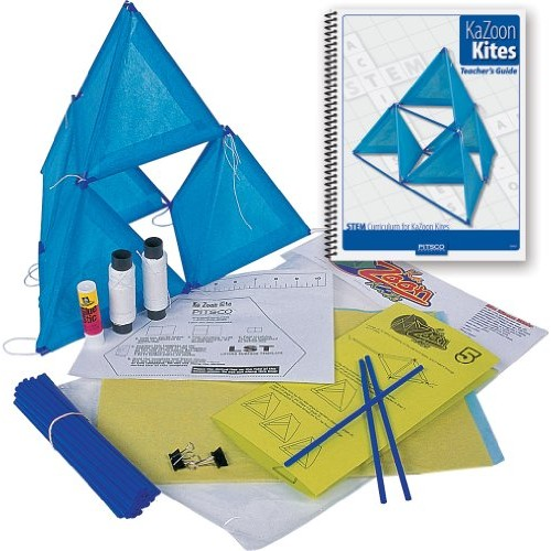 Pitsco KaZoon Kite Kit with Teacher's Guide Individual Pack