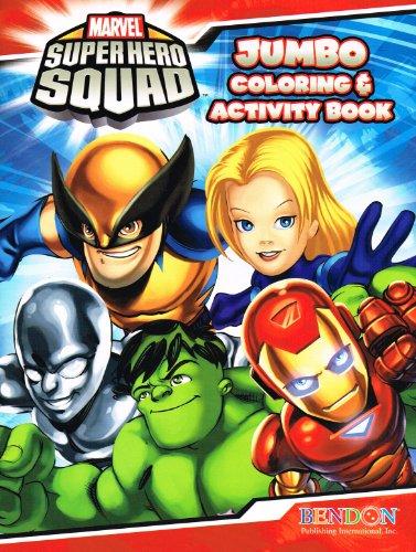 Marvel Super Hero Squad Set of 2 Jumbo Coloring & Activity Books