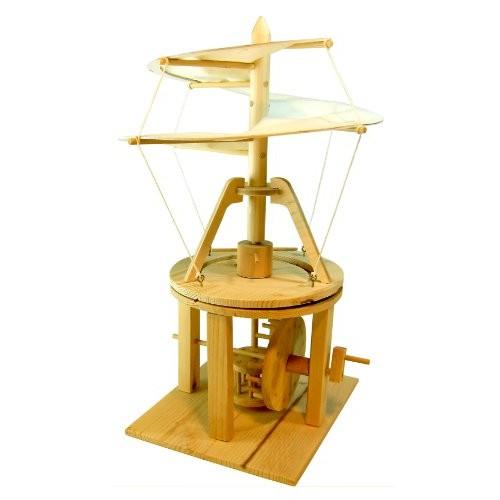 Pathfinders Leonardo da Vinci Premium Aerial Screw Helicopter Flying Machine Wood Model Kit