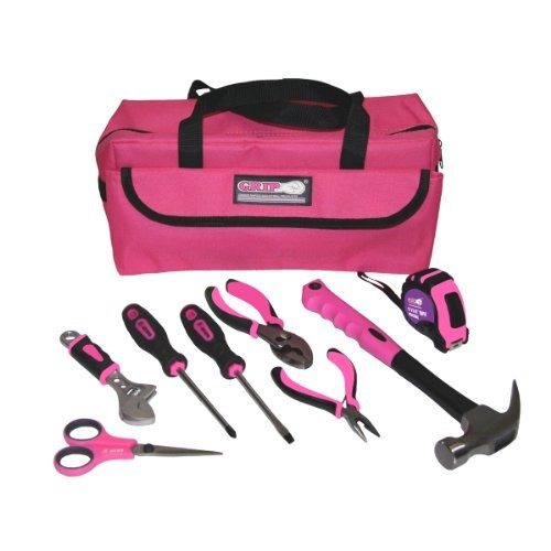 Grip 9 pc Girl Childrens Tool Kit