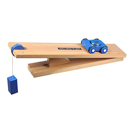 Simple Wooden Machine Inclined Plane and Cart Model