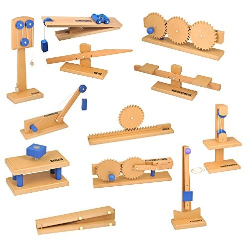 ETA hand2mind Simple Wooden Machine Collection Work Force and Energy Models Set of 12