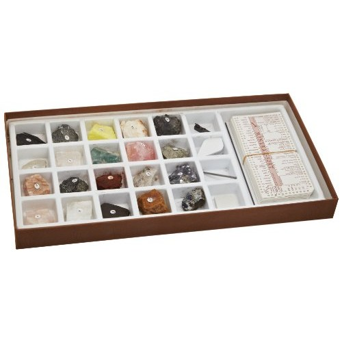 Mineral Identification Kit Rock Samples for Studying Geology and Earth Science Set of 20