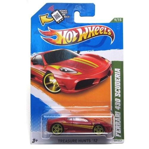 Hot Wheels 2012 Ferrari 430 Scuderia Car Red Treasure Hunts 59