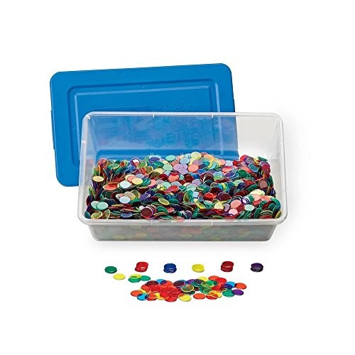 hand2mind Transparent Plastic Counters Math Tokens Classroom Kit Pack of 5000