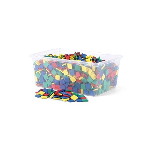 hand2mind Foam Square Color Tiles Set of 2000