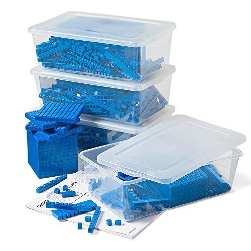 hand2mind Blue Interlox Base Ten Blocks Class Set Set of 644