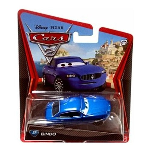 Disney Pixar Cars 2 Movie Series Mattel 1:55 Scale Die Cast Car #37 Bindo