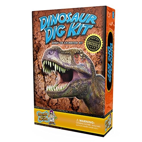 Dinosaur Dig Science Kit Up and Collect 3 Real Fossils