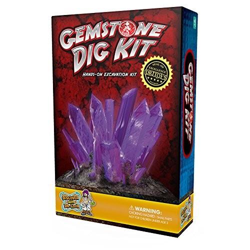 Gemstone Dig Science Kit Excavate 3 Amazing Crystals