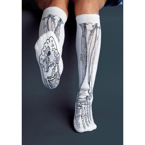 Anatomical Chart Co – Bone Socks White