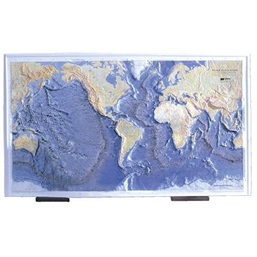 Hubbard Scientific Ocean Floor Raised Relief Map 26 x 39