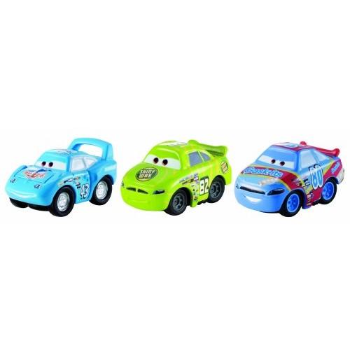 Disney/Pixar Cars Micro Drifters Vehicles Shiny Wax No 82 Gask-Its No 80 and The