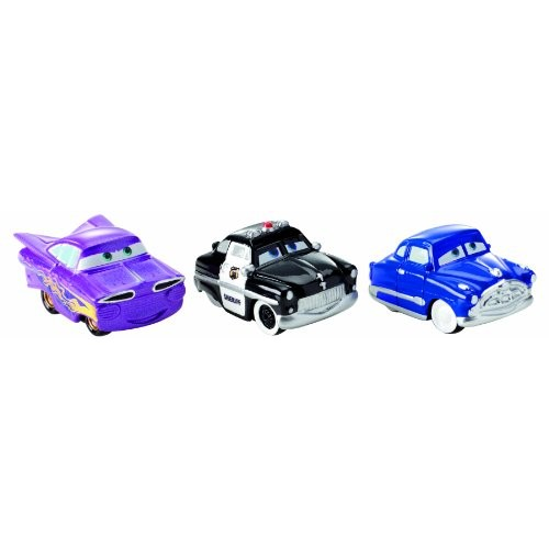 Cars Micro Drifters Doc Hudson Sheriff and Ramone Toy Vehicle 3-Pack