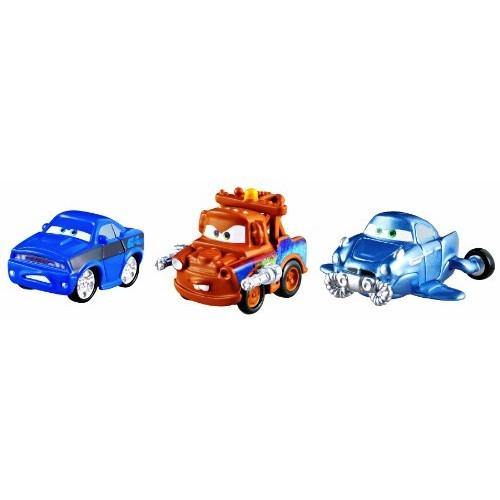 Cars Micro Drifters Hydrofoil Rod and Backwards Driving Mater Toy Vehicle 3-Pack