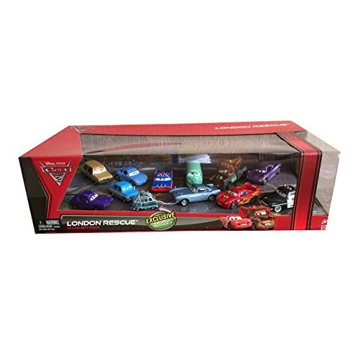 Disney Cars 2 London Rescue with Captured Professor Z – 12 Car Gift Pack