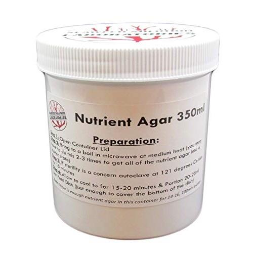 Nutrient Agar 350ml – Sterilzed Yields 14-16 100mm Petri Dishes