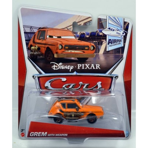 Cars 2 Airport Adventure Grem with Weapon 1:55 Scale Die Cast Vehicle