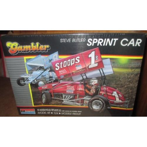 #2778 Monogram World of Outlaws Gambler Steve Butler Sprint Car 1/24 Scale Plastic Model