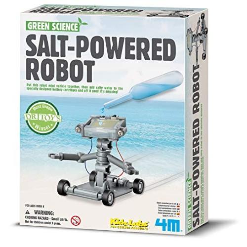 4M Green Science Salt Water Powered Robot Kit – Energy Robotics STEM Toys Educational Gift for Kids & Teens Girls Boys