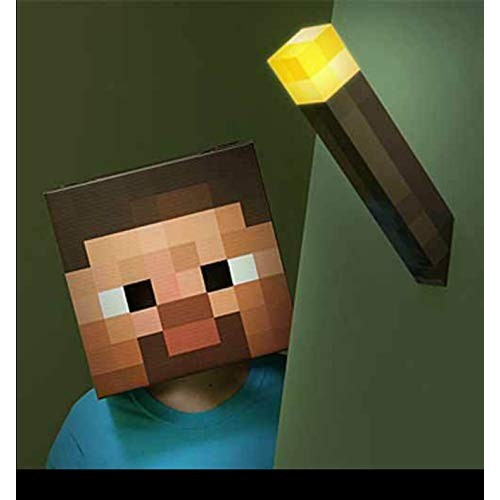 ThinkGeek Minecraft Light-Up Wall Torch – Mounts To Your Officially Licensed Collectible