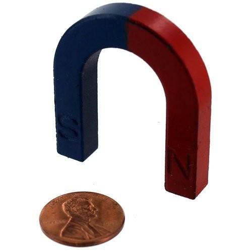 Red Blue Ceramic Horseshoe Magnet