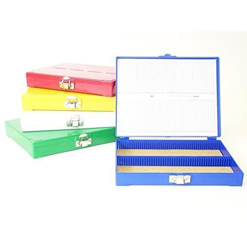Premiere 100 Capacity ABS Plastic Slide Storage Box Blue