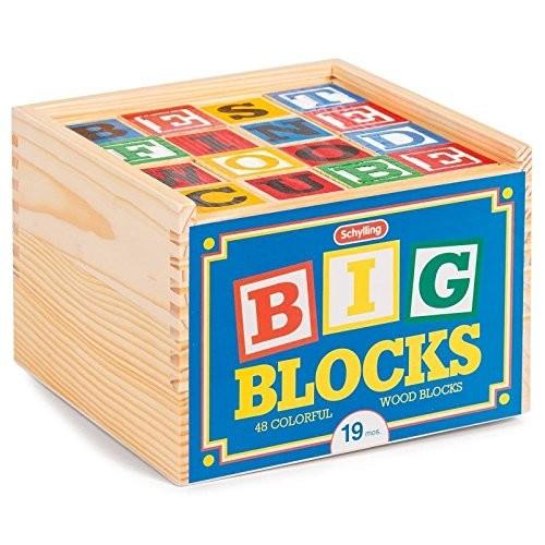 Schylling ABC Big Blocks – 48 Piece Wood Alphabet