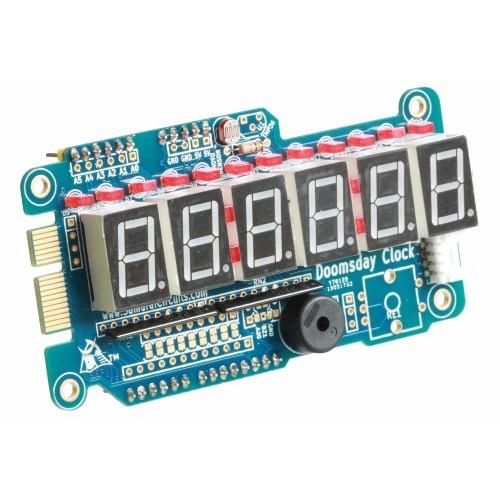 Doomsday Clock Shield Kit for Arduino by Samurai Circuits