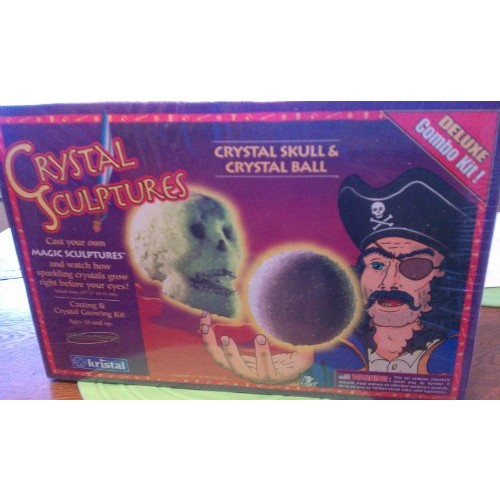 Kristal Crystal Sculptures Skull & Ball Glow In The Dark Casting and Growing Kit