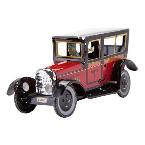 Paya Taxi Tin Toy Red Classic 1929 Metal Car Winds Up Tin Toy Collection