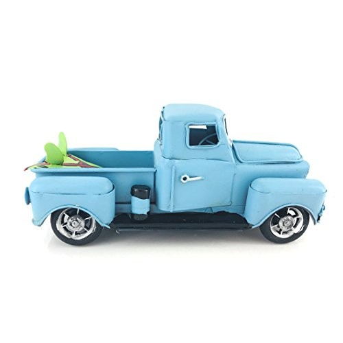 Vintage Looking Antique 8 Handcrafted Light Blue Truck Vehicle Car Model