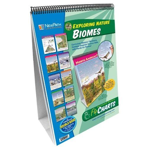NewPath Learning 10 Piece Biomes Curriculum Mastery Flip Chart Set Grade 5-10