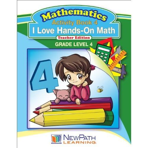 NewPath Learning I Love Hands-On Math Reproducible Workbook Grade 4