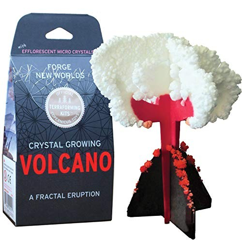Crystal Growing Volcano Copernicus Toys Official Terraformer kit Grows in Hours Facts and Instructions Included A Fractal Eruption