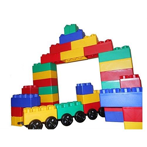 Kids Adventure Jumbo Blocks with Wheels Train Set 60-Piece 00221-1
