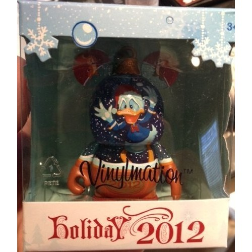Disney VINYLMATION Holiday 2012 Donald Duck Snowglobe with Chip and Dale