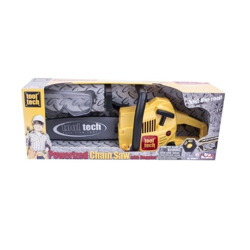 Tool Tech Powerized Chain Saw with Goggles