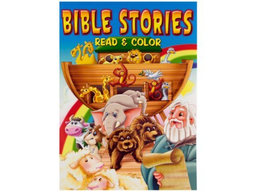 Bible Stories Read & Color Coloring Book 96 Pages