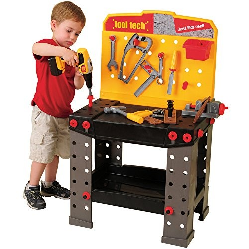 Constructive Playthings Play Plastic Tool Tech Workbench with Tools & Accessories Set of 148