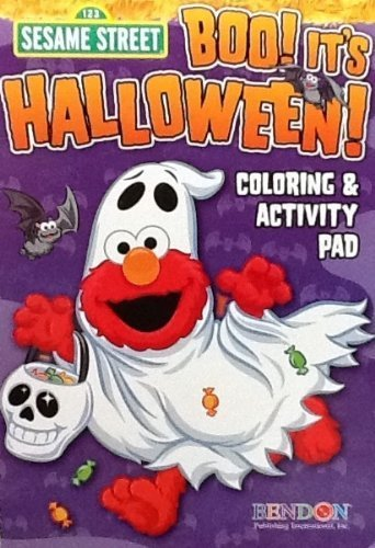 Sesame Street BOO It's Halloween Coloring & Activity Flip Top Pad 7 x 5 64 Pages Spooky Puzzles Games