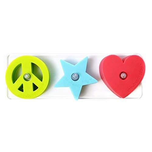 Chewbeads Stack and Play – Peace Love Star 3 pk