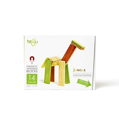14 Piece Tegu Magnetic Wooden Block Set Jungle